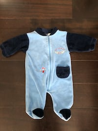 """""""Flying Aces"""" airplane onesie/sleeper 3 month  Calgary, T2Z 1A3"""