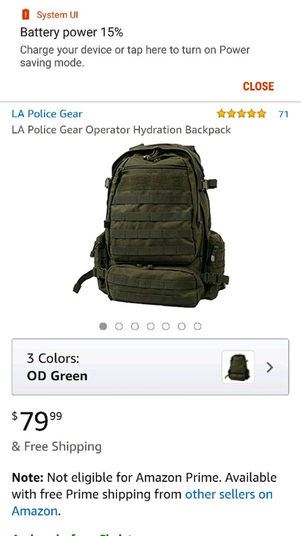 Used black and gray backpack screenshot for sale in
