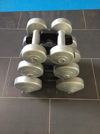 White and gray dumbbells set Toronto, M9B 1J7