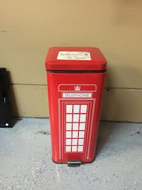 red Telephone tin can