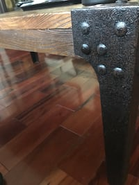 Industrial style solid wood coffee table 400 mi