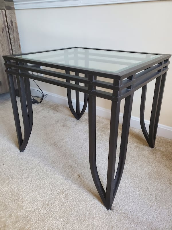 Glass top end table 0