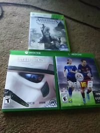 three Xbox One game cases Pittsburgh, 15220