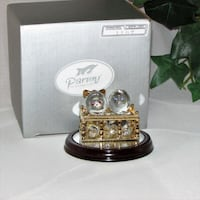 Twins Side by Side Miniature Blown Glass Figurine Mississauga