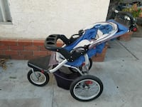 baby's blue and black jogging stroller Los Angeles, 91335
