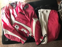 pink and white leather zip-up jacket Frederick, 21703