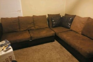 Black and brown sectional