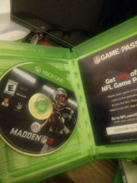 Xbox One Madden NFL 18 game disc