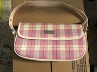pink and white plaid leather crossbody bag Detroit, 48226