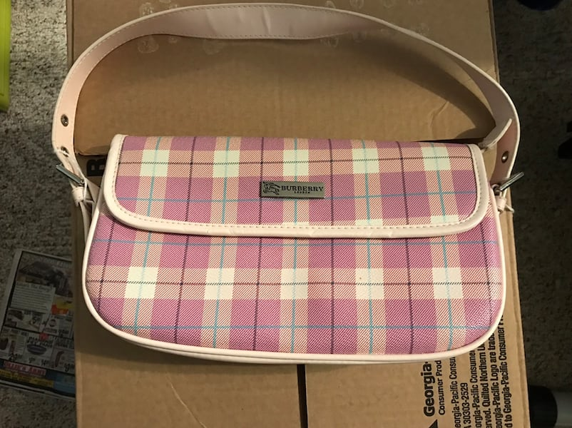 pink and white plaid leather crossbody bag 5f44687e-4f42-4174-8f2a-61d06570d379