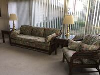 Sunroom sofa, chair, 2 end tables and lamps Alexandria, 22315