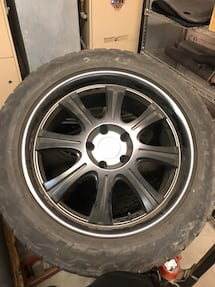 Four Black Rhino rims and tires off a 2014 grand Cherokee 21k on tires