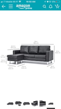 black leather sectional sofa screenshot Vienna, 22180