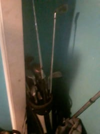 Callaway golf.clubs also brand new Nike drive golf stick with tool...