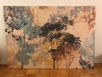 Large black, brown, and gray tree painting New York, 10019
