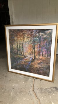 Brown wooden framed painting of trees Porterville, 93257