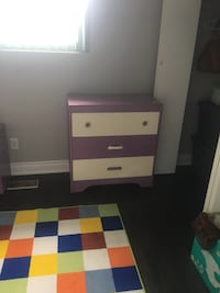 Bed set for a girl purple and white wooden box mattress Chester  Toronto, M9V 2H4