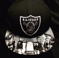 black and white Oakland Raiders fitted cap Costa Mesa, 92627