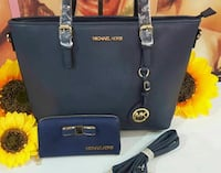 Tote bag in pelle Michael Kors nera Roma, 00133