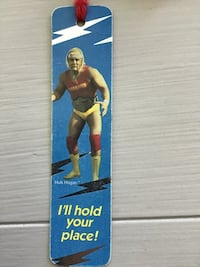 Hulk Hogan 1980's Collectible WWF Bookmark