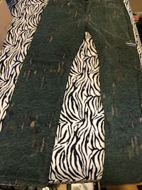 black and white zebra print pants Ladera Heights