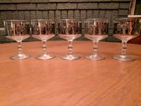 Vintage Wine Glasses with Viking Brass Mounts Toronto, M4R 1X6