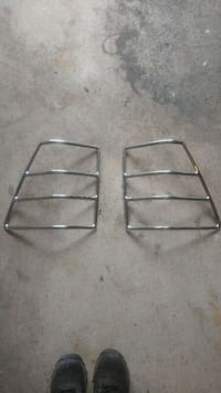 Stainless steel rear tail light covers jeep gc