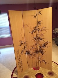 Room divider made of bamboo like new 70 inches long it can be folded