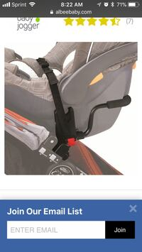 Baby stroller adapter for single car seat