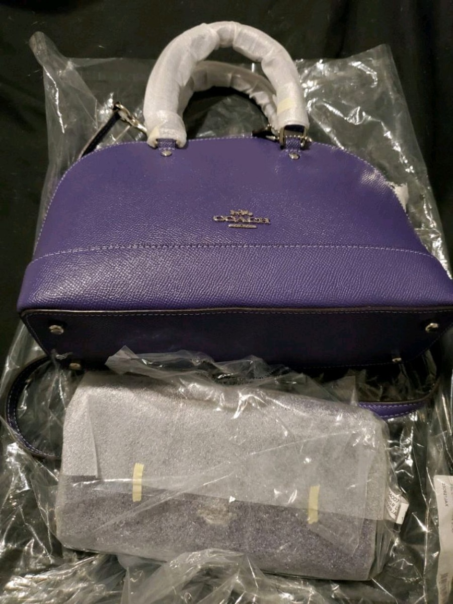 Photo Brand New Purple Coach Purse with Matching Wallet