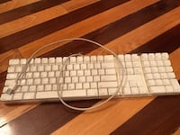 White and gray corded Apple USB computer keyboard Boston, 02130