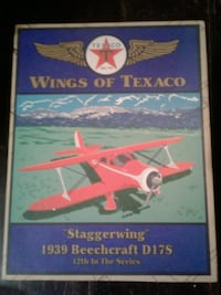 Texaco collectable beechcraft D17S staggerwing metal coin bank