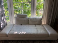 White leather sofa bed Los Angeles, 90064