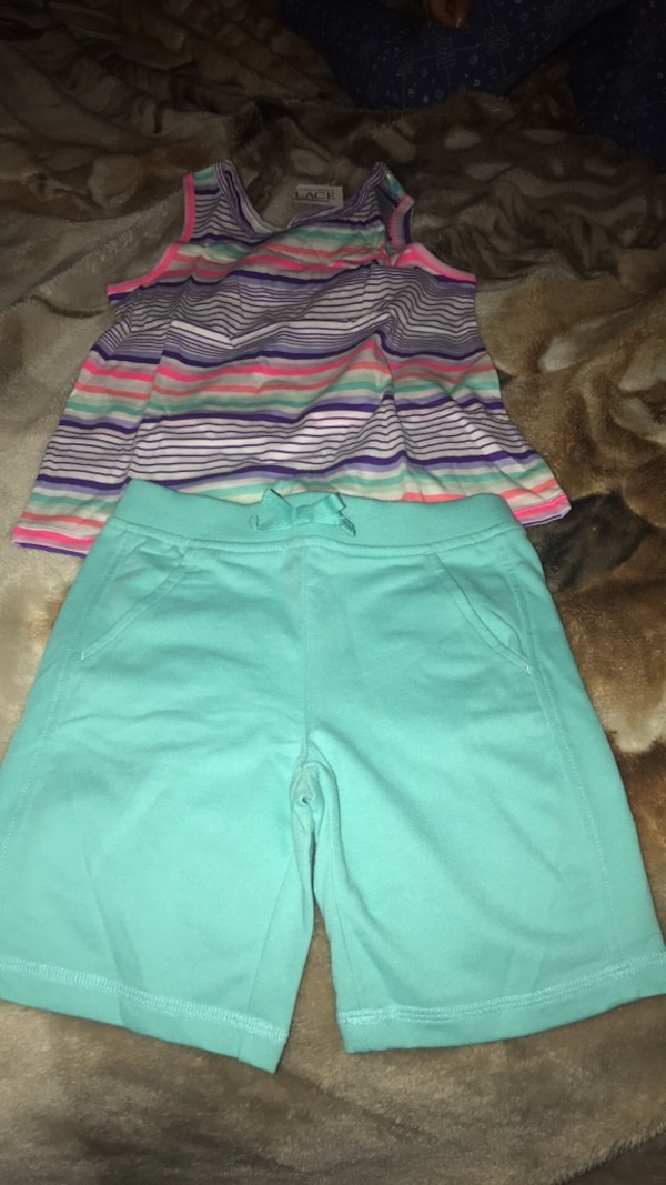 women's teal and pink shorts