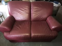 Red Leather Couch  Miami