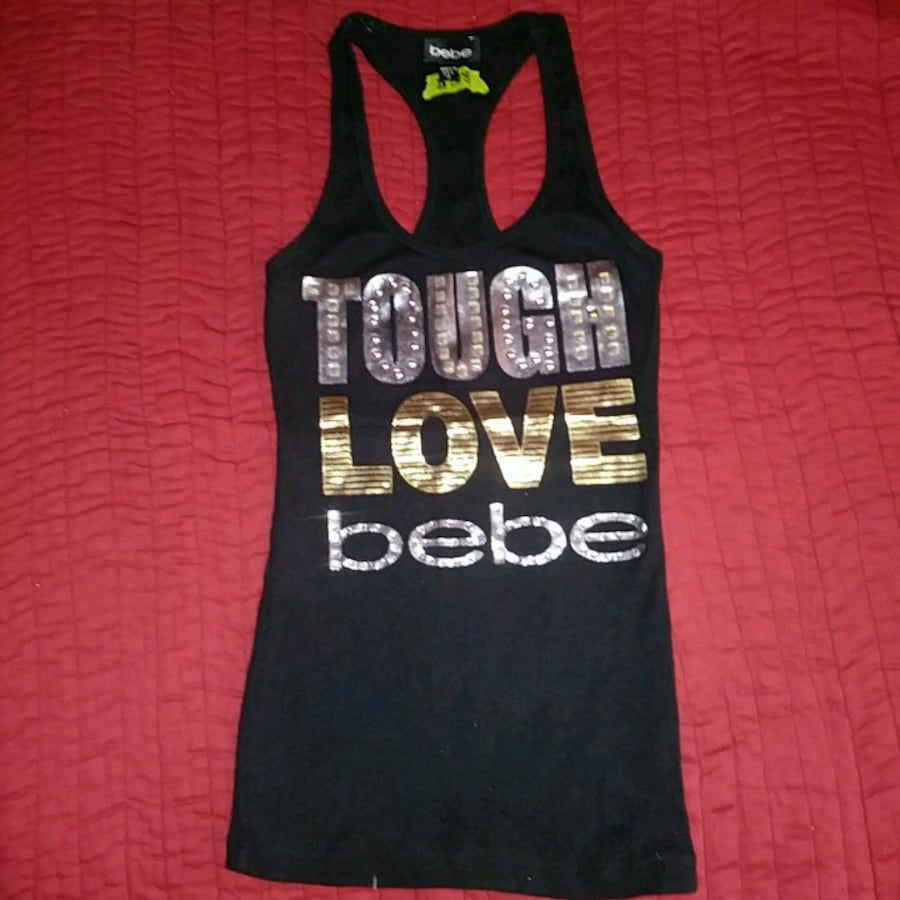 Women's Medium Bebe Foil Print Tank Top