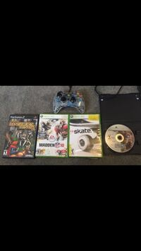 (1)xbox controller (3)xbox 360 games (1) play station 2 game Greeley, 80634