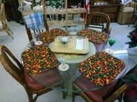 Glass table and chairs. Will recover seats  Bradenton, 34207