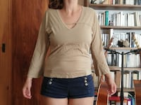Top beige taille S