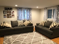 Ashley Levon oversized couch and love seat (2 piece set)