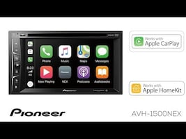 Pioneer Apple CarPlay double din car stereo. Play your YouTube video