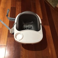Baby's white and black high chair Coquitlam, V3E 2V4