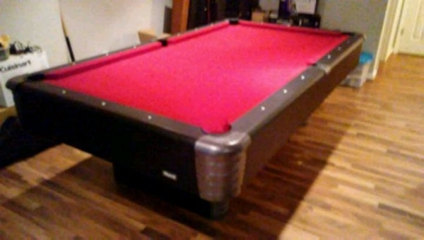 red and black billiard table