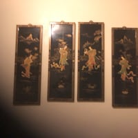 Oriental 4 pc laquer and mother of pearl wall decor Ocala, 34470