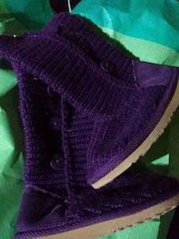 purple and black knitted vest Flint, 48507