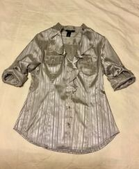 White House Black Market Silk Shirt Sz S Greenville, 29617