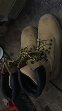 Pair of brown survivors leather work boots