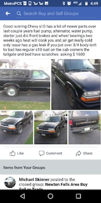 Chevrolet - S-10 - 1998 Youngstown, 44514