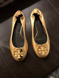 Tory Burch Gold Slip Ons Reston, 20190