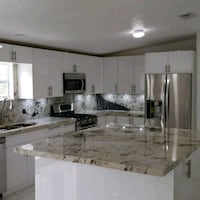 white and black wooden kitchen cabinet Miami Springs, 33166